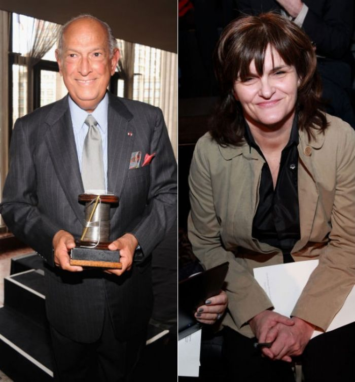 Oscar de la Renta and Cathy Horyn