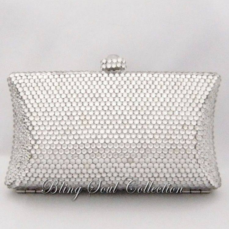 Shiny Clutch Purse With Crystals