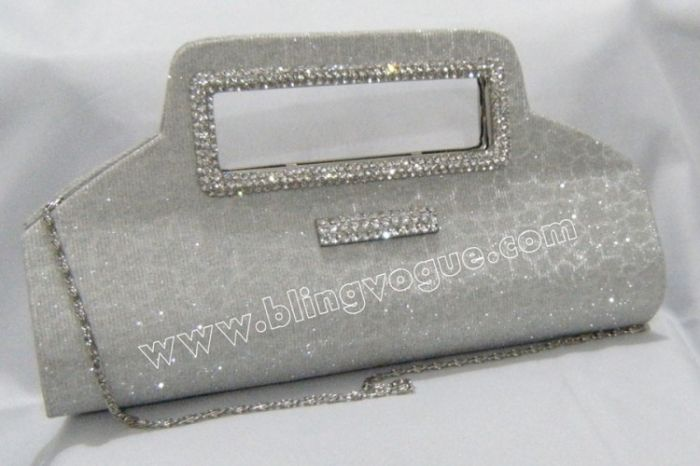 White Shiny wedding Clutch