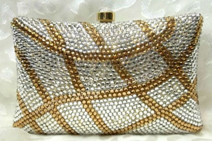 Gold Silver Wedding Clutch