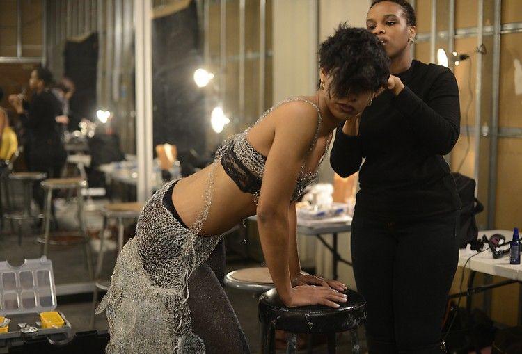 Nikki Rickert prepares for fashion show