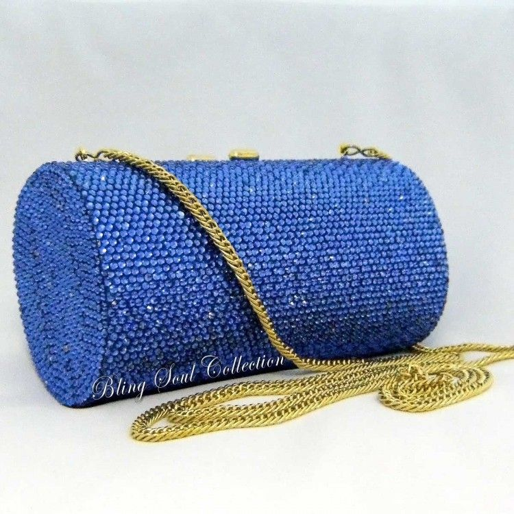 Blue Gemstone Clutch Purse