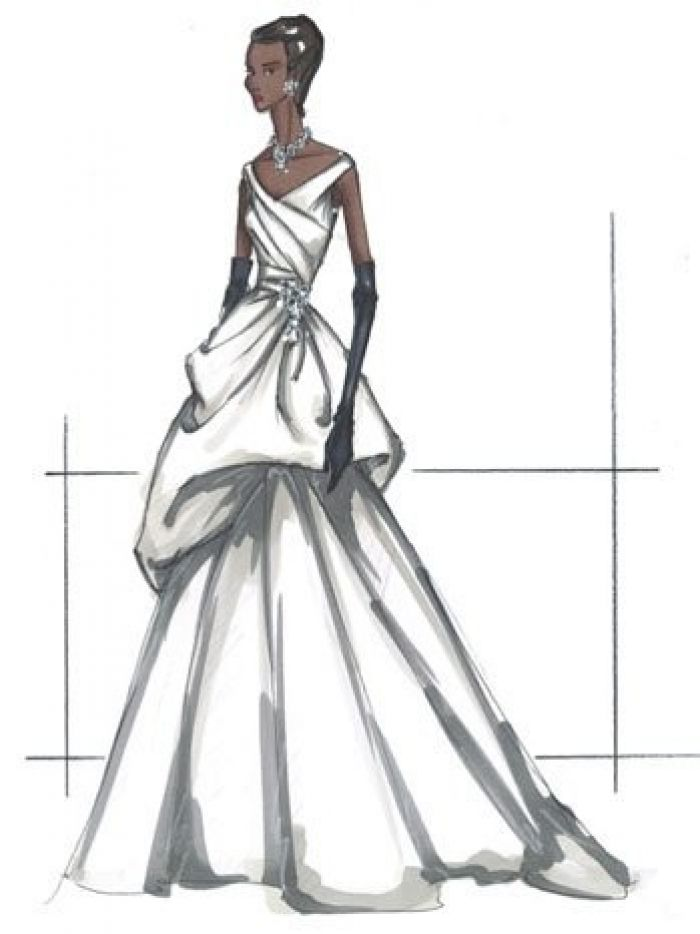 Michelle Obama inauguration dress render