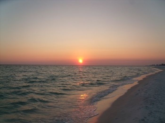 suset on the beach