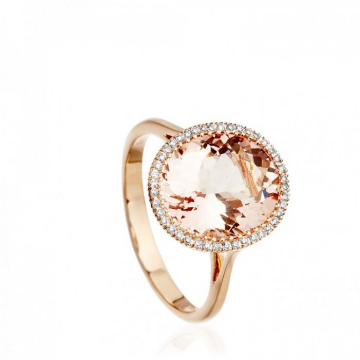 1 morganite cocktail ring