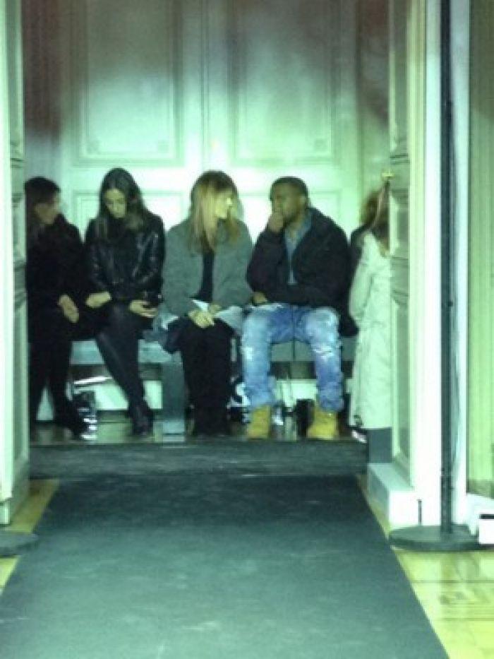 Kanye at fashion show
