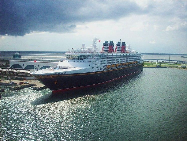 Disney Wonder at Port Canaveral (2008)