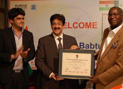 Sandeep marwah with Akshay marwah