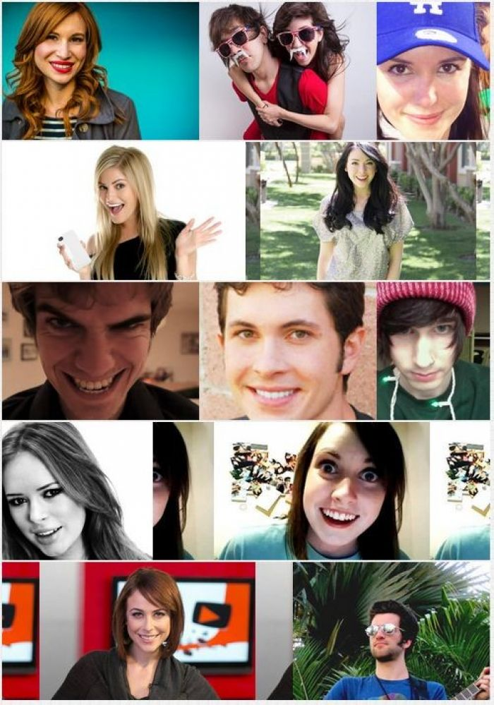 Famous faces from Youtube