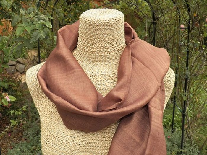 Silk natural scarf
