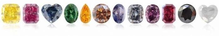 The beauty of colored diamonds