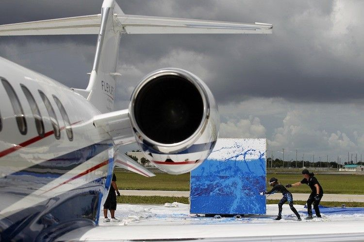 Jet Art Group Makes Masterpiece Using $10 Million Learjet Engin