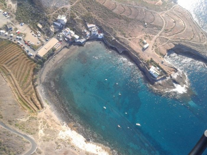 View of La Caleta from the Helicopter