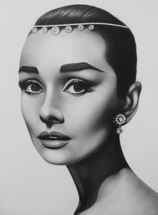 Audrey Hepburn - Pencil