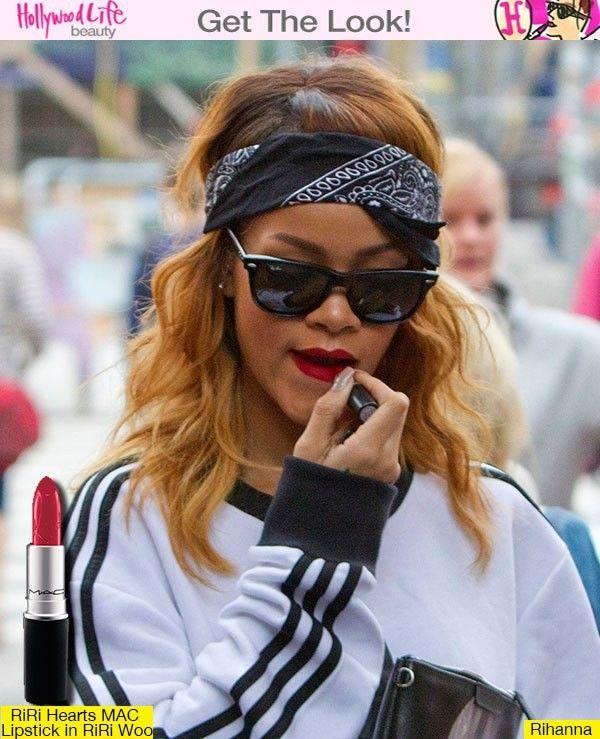 Rihanna's Red Lips