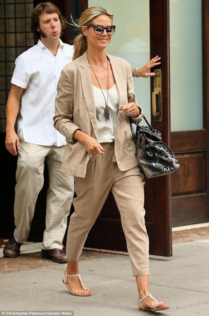Heidi Klum's Casual Suit