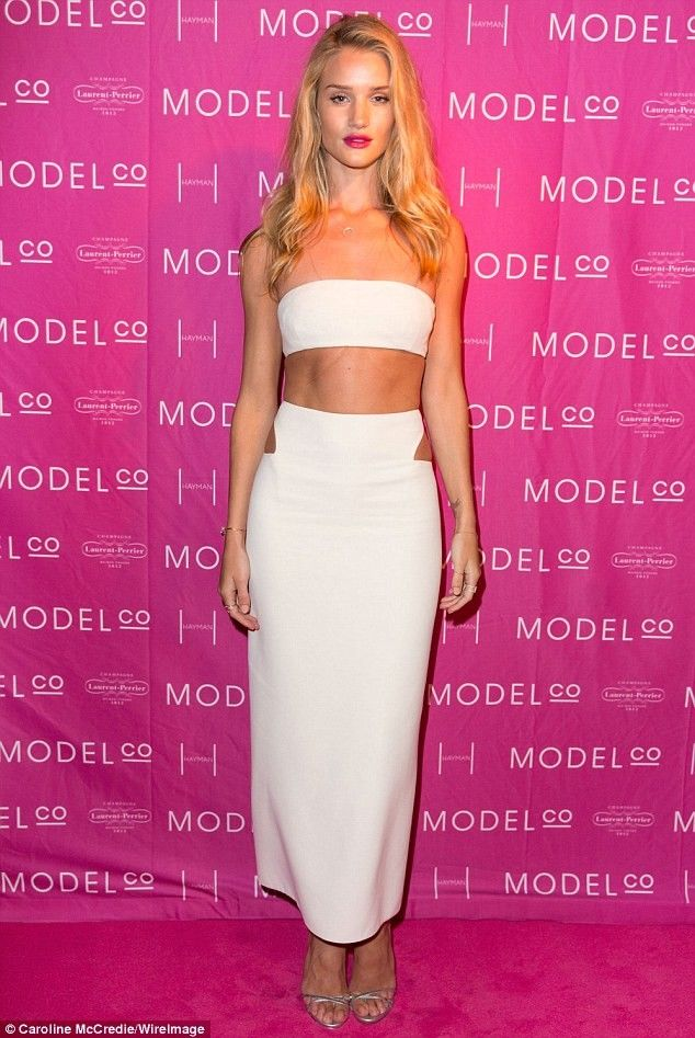 Rosie Huntington-Whiteley Wears White