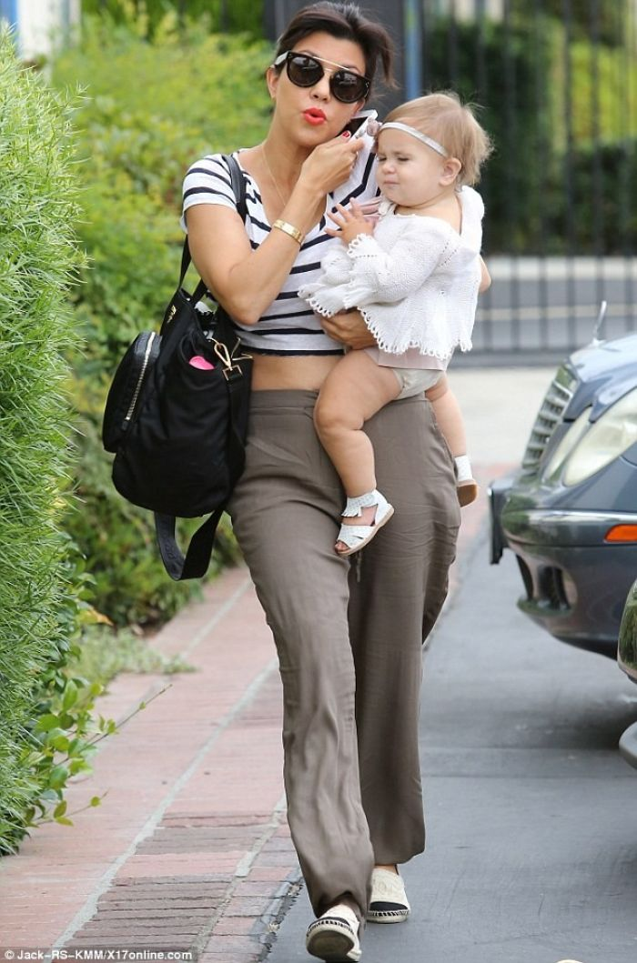 Kourtney and Penelope Kardashian