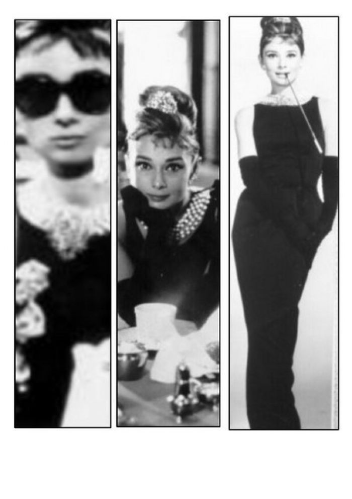 Audrey Hepburn as the iconic Holly Golightly in Breakfast at Ti