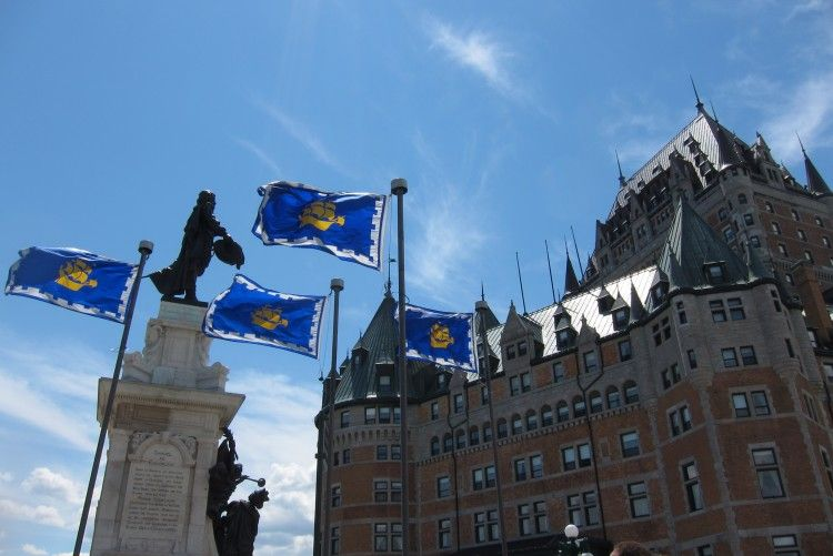 Château Frontenac and the Champlain Monument