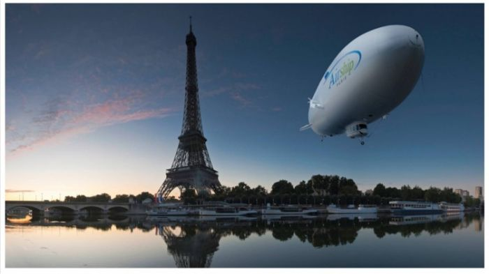 Eiffel Tower and zeppelin