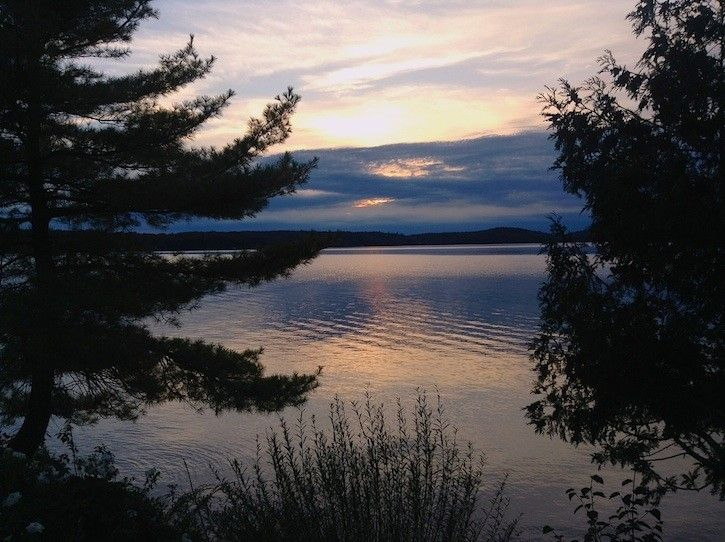 Sunset Lake Rosseau From The Lake Cottage