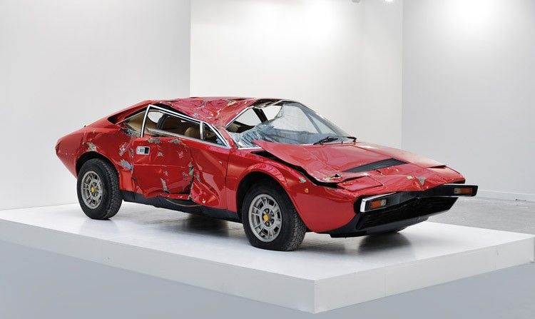 Wrecked Ferrari Sells for $250,000 as Objet Trouvé in Paris