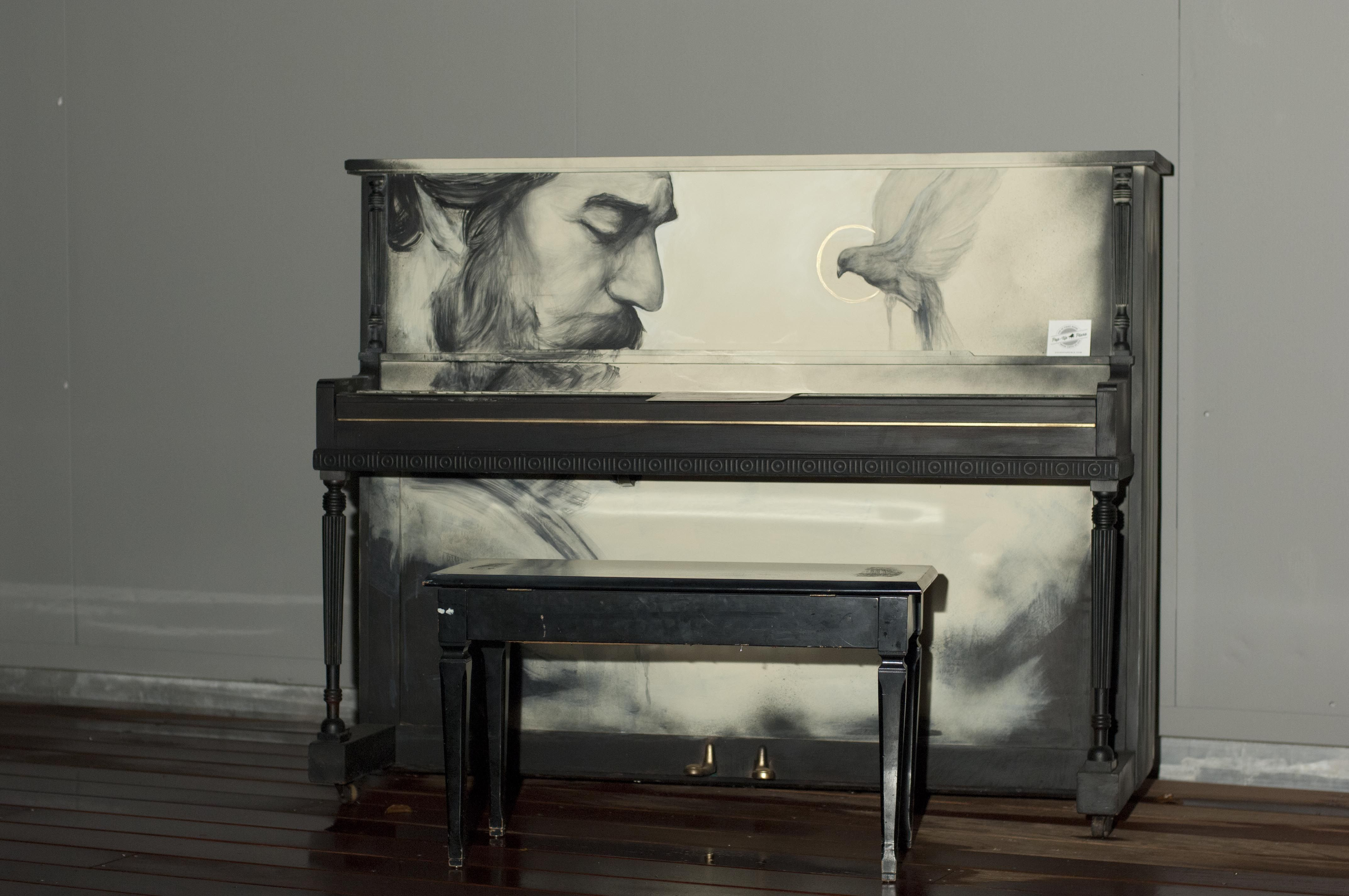 Piano by Evoca1 at Pop Up Miami Concert