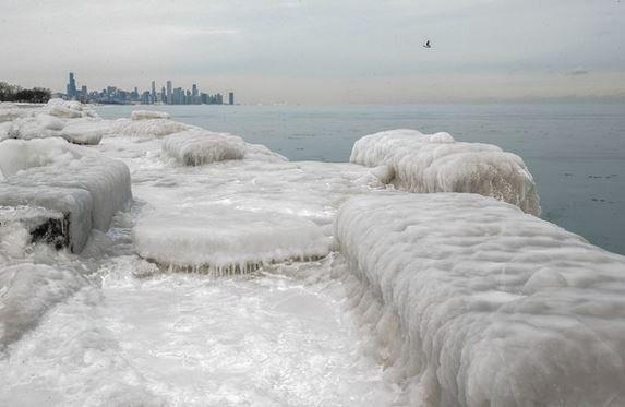 The Polar Vortex freezes Chicago