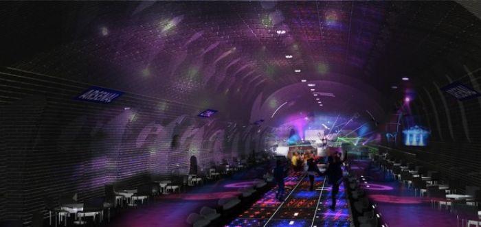 Paris Subway dance club render