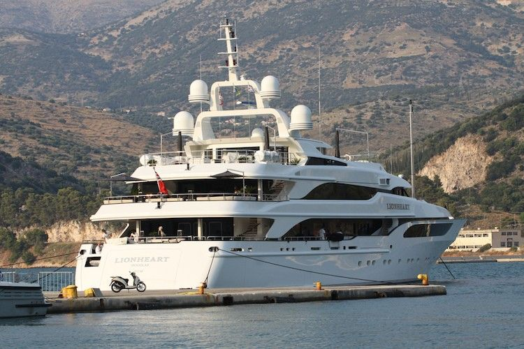 Philip Green�s superyacht Lionheart