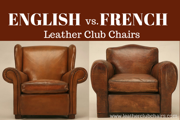 Charmant French Leather Club Chairs