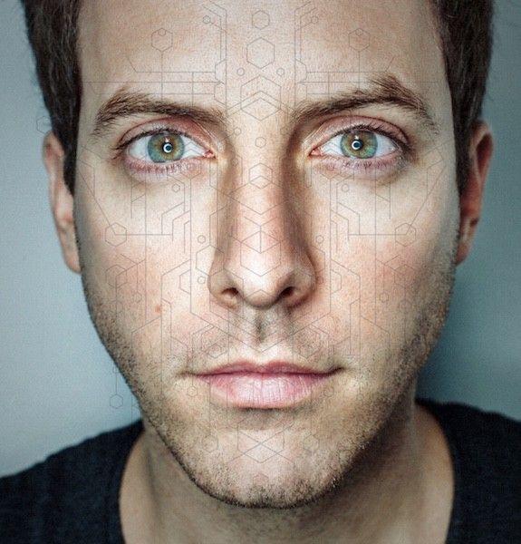 John Brevard With A Fractal Face Overlay