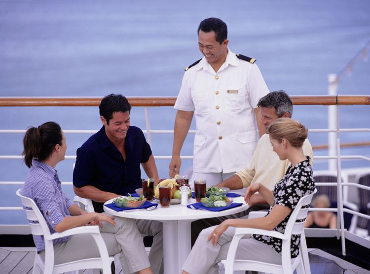 Captain with Cruise Guests