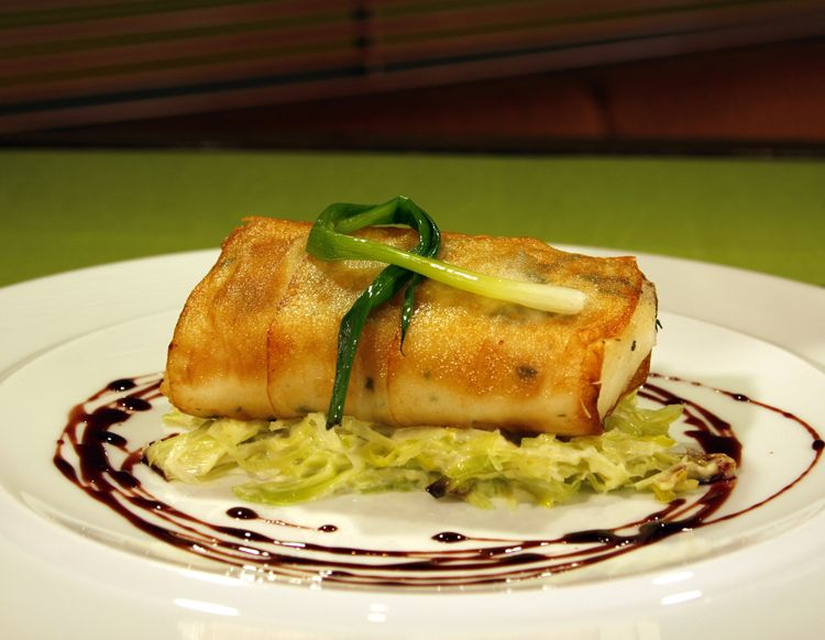 Try This Seafood Recipe for Potato Crusted Halibut with Creamy Leeks