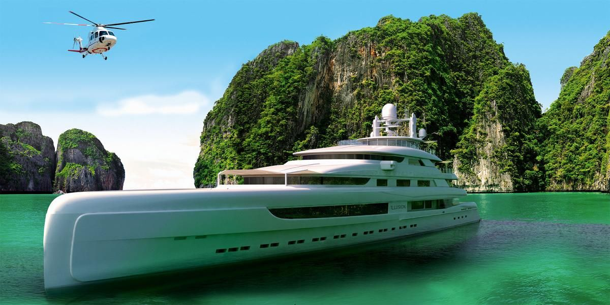 illusion, largest yacht built in china