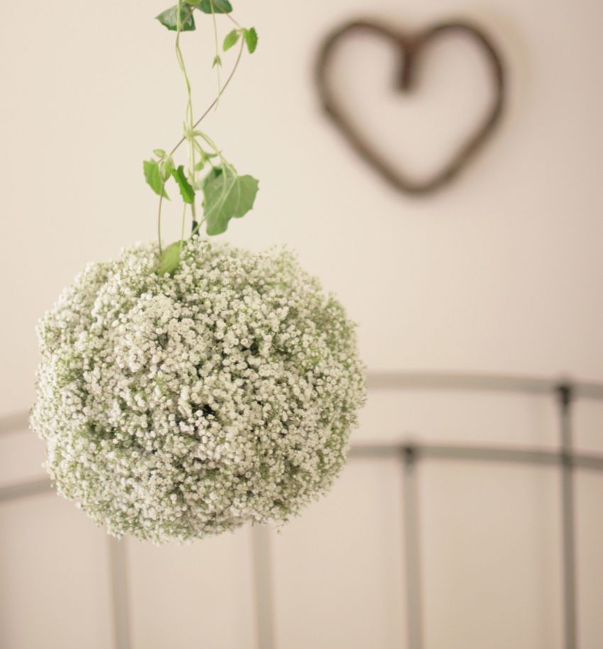 baby's breath ball hanging ornament