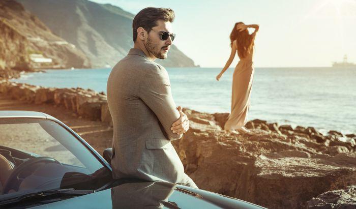 çift, park etmiş, kumsal