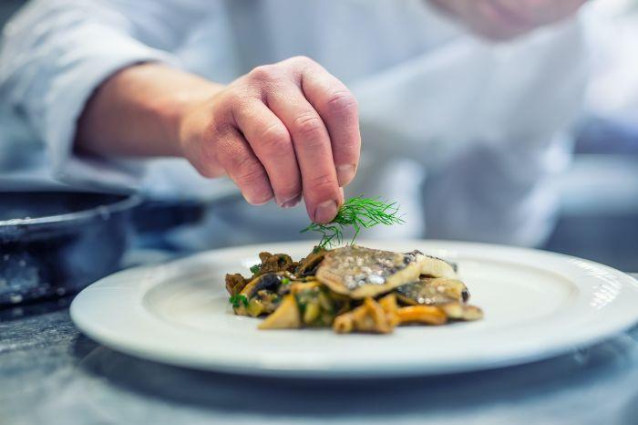 chef making food