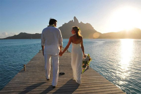 wedding at St. Regis Bora Bora