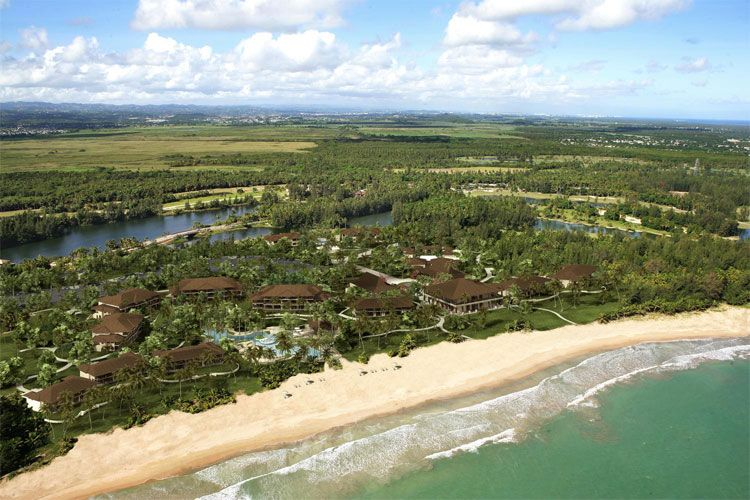 The St. Regis Bahia Beach Resort aerial view
