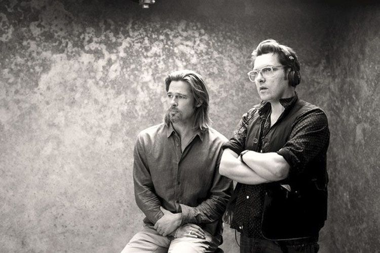 Brad Pitt and Joe Wright