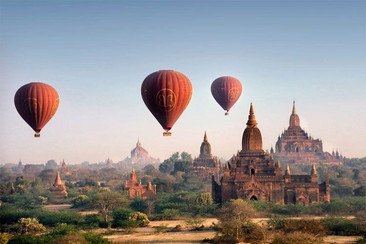 hot-air balloon ride over Bagan