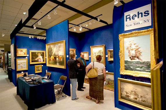 Rehs Galleries' Booth in Baltimore