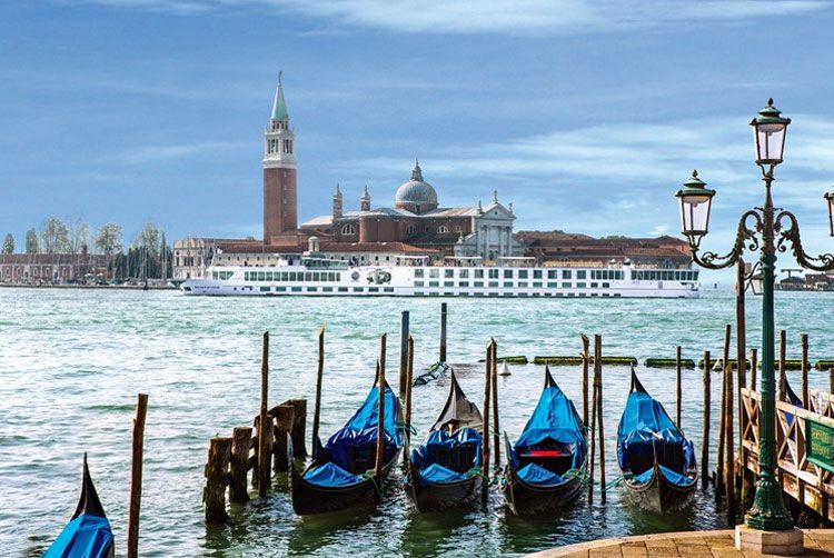 Uniworld's River Countess docked in Venice