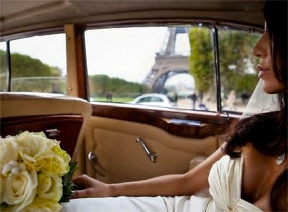 American Bride in Paris