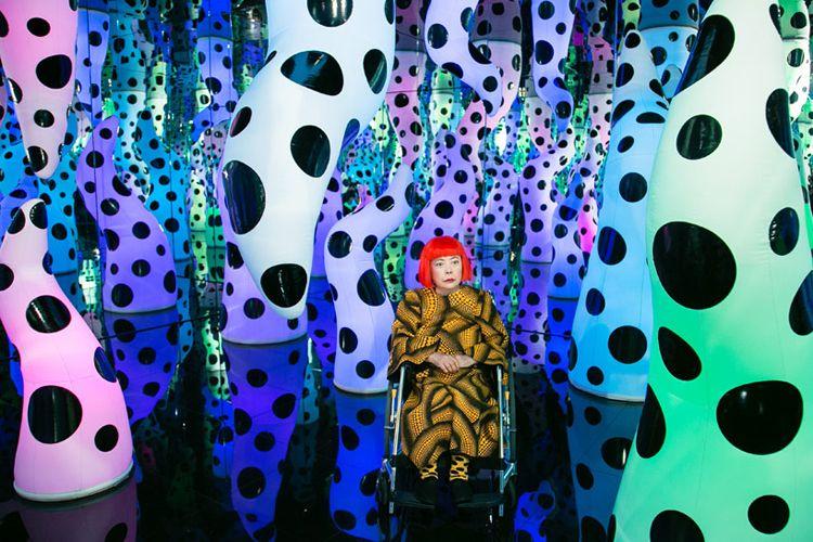 Yayoi Kusama art exhibit