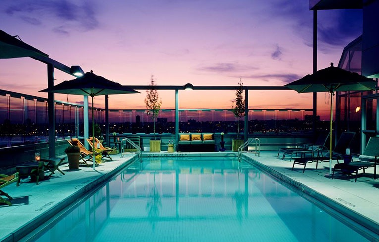 new york hotels with rooftop swimming pools gansevoort park avenue nyc in new york