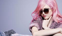 Charlotte Free Poses for Chanel Eyewear Campaign in Her Signature Pink Strands