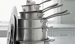The Nesting Habits of Chef Thomas Keller's 11-Piece All-Clad TK Inspiration Cookware Set